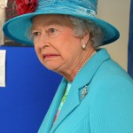 Queen Elizabeth II when someone told her monochromatic looks are a bit too much. (Photo: WENN)