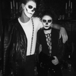 Austin Butler and Vanessa Hudgens were a terrifying, yet adorable, skull couple. (Photo: Instagram)