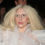 Honestly, I can't tell if Lady Gaga is scared in this picture, or if she's scaring me. Maybe both. (Photo: WENN)