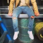 Nick Jonas banged up his knees while shooting the music video for his song Levels. (Photo: Instagram)