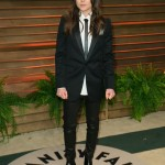 Ellen Page in a retro-inspired tux look at the Vanity Fair toast in 2015. (Photo: WENN)