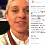 Ellen DeGeneres was also answering phones. (Photo: Instagram)