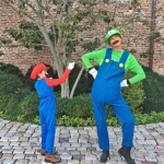 Gisele Bundchen and her son dressed as Mario and Luigi. (Photo: Instagram)