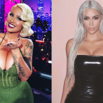 Amber and Kim are natural brunettes, but they both have rocked a platinum head. (Photo: Instagram)