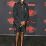 Forget about Luca's vintage 80's outfit! Caleb McLaughlin was probably the most stylish kid on the red carpet. (Photo: WENN)