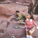 Ariana Grande and her boyfriend Mac Miller dressed up as Sam and Suzy from Moonrise Kingdom. (Photo: Instagram)