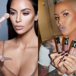 The two of them are in the makeup business. Kim owns KKW Cosmetics, while Amber has her own brand called Flirt. (Photo: Instagram)
