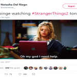 Didn't expect less from a true Stranger Things fan. (Photo: Twitter)