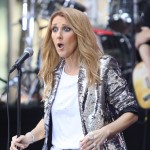 Celine Dion after hitting the wrong note for the first time in her lifetime! (Photo: WENN)