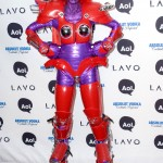 Rather literally, Klum transformed herself into a red and purple Transformer in 2010. (Photo: WENN)