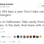 Go get me some candy! (Photo: Twitter)