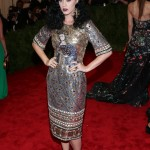 Wearing a Byzantine-inspired dress for the Punk: Chaos to Couture 2013 Met Gala. (Photo: WENN)