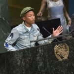 Pharrell Williams partnered with the United Nations in 2015, promoting the organization's International Day of Happiness. (Photo: WENN)