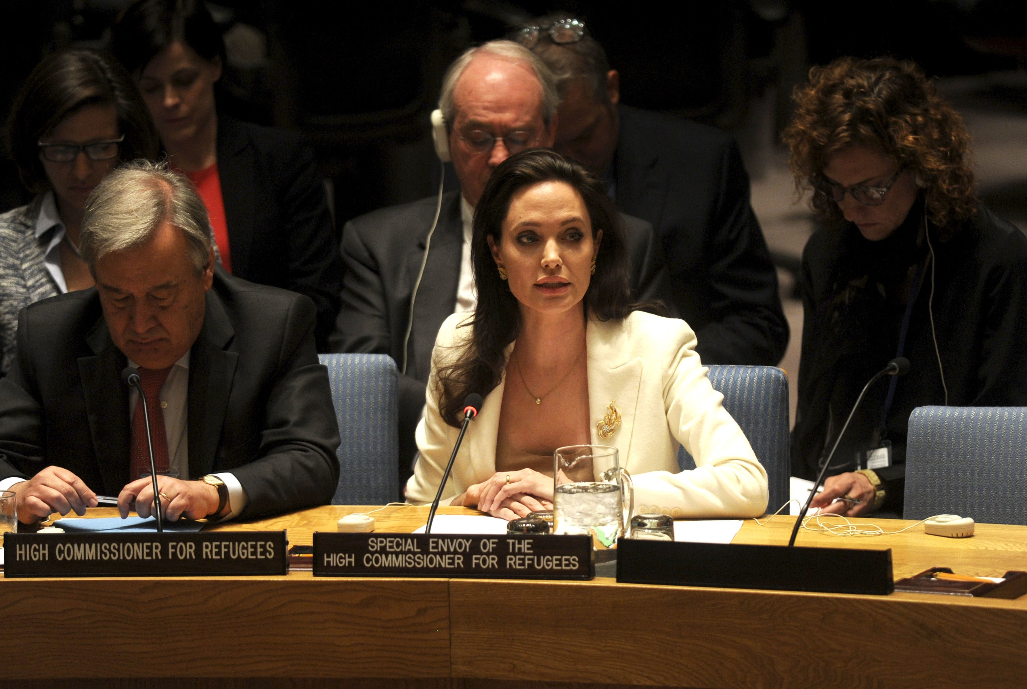 Angelina Jolie has collaborated with the UN in several occasions. More recently, the actress attended a Security Council Meeting on Syria's refugee crisis. (Photo: WENN)
