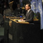 Leonardo DiCaprio was appointed U.N. Messenger of Peace with special focus on climate change in 2014. He spoke at the opening of the High-level Signature Ceremony for the Paris Agreement that same year. (Photo: WENN)