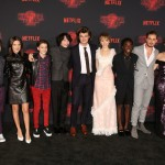 The show's young cast were all smiles at the premiere. (Photo: WENN)