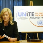Charlize Theron was designated a United Nations Messenger of Peace in 2008, tasked with promoting efforts to end violence against women. (Photo: WENN)