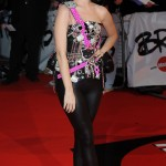 The I Kiss a Girl singer arriving the 2009 BRIT Awards red carpet. (Photo: WENN)