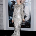 Rachel chose a silver metallic Marchesa gown for the Sherlock Holmes: A Game of Shadows premiere. (Photo: WENN)