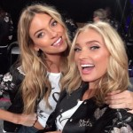 Martha Hunt and Elsa Hosk freaking out over the futuristic runway. (Photo: Instagram)