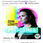 Demi Lovato announced the news via her Twitter account. (Photo: Twitter)