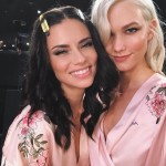 Karlie Kloss getting ready with her friend Adriana Lima. (Photo: Instagram)