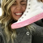 Miley Cyrus is freaking out about her collab with Converse... and so are we! (Photo: Instagram)