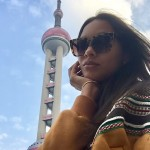 Lais Ribeiro enjoying Shanghai. (Photo: Instagram)