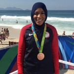 Last year, Muhammad became the first female Muslim-American to earn a medal and the first American woman to compete wearing the Islamic headscarf. (Photo: Instagram)