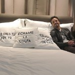 Luis also shared the good news, posting a picture of himself on a bed with the single's title printed across a pillow. (Photo: Instagram)