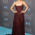 Rachel looked every bit romantic in this crimson Elie Saab number at the Critic's Choice Awards. (Photo: WENN)