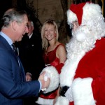 Prince Charles has shaken many hands—including Santa Claus'! (Photo: WENN)