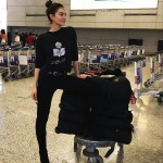 Lily Aldridge arriving to Shanghai. (Photo: Instagram)