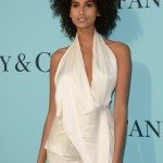 Model Imaan Hammam arriving at the Tiffany & Co. 2017 Blue Book Collection gala. (Photo: WENN)