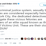 Law and Order: SVU even had space for some sound effects. (Photo: Twitter)