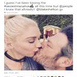 "This is old news for Gwen Stefani! But apparently, the rest of the (internet) world is in shock with Blake Shelton's ""sexiest man alive"" title. (Photo: Twitter)"