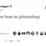 Chrissy Teigen may not know how to photoshop… (Photo: Twitter)