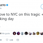 """Sending love to NYC on this tragic+hearbreaking day,"" actore and singer Jared Leto tweeted. (Photo: Twitter)"