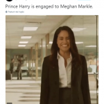 And Meghan Markle is one happy princess to be! (Photo: Twitter)