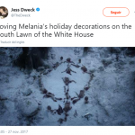 Baby Jesus would love Melania's holiday décor. (Photo: Twitter)