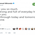"""We'll get through today and tomorrow and the next one,"" Lin-Manuel said. (Photo: Twitter)"
