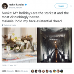 Ivanka's decorations have nothing on Melania's Silent Hill theme! (Photo: Twitter)