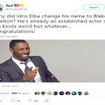 Why would you do that, Idris? (Photo: Twitter)