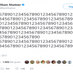 Thank you, William Shatner, for doing the math. (Photo: Twitter)