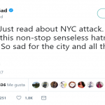 "Josh Gad condemed the ""non-stop"" violence. (Photo: Twitter)"
