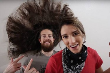 This Guy Tries 100 Layers Of Hairspray On His Beautiful Long Hair