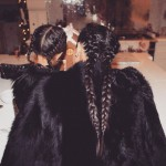Kim Kardashian and North West are twining from head to fur. (Photo: Instagram)