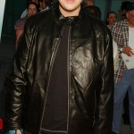 "Josh, wearing an all-black outfit paired with a leather jacket at the L.A. premiere of ""Mean Creek"" in 2004. (Photo: WENN)"