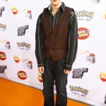 Looking slimmer in a stripped black shirt paired with a brown button vest and baggy jeans for the German's Kids Choice Awards in 2007. (Photo: WENN)