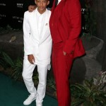 "Like if staring a movie together wasn't enough, Will and Jaden Smith wore matching outfits to the premiere of their film ""After Earth"". (Photo: WENN)"